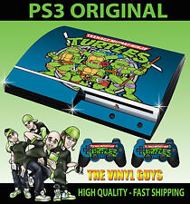 PLAYSTATION PS3 OLD SHAPE CLASSIC TEENAGE MUTANT RETRO TURTLE STICKER 90'S SKIN