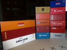 walthers /athearn  HO Lot de 14 containers 20' et 40'.