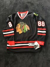 PATRICK KANE CHICAGO BLACKHAWKS BLACK REEBOK PREMIER JERSEY NEW WITH TAGS