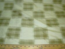 "~BTY~100% SILK "" PLAID CHECKS""~100% SILK DRAPERY UPHOLSTERY FABRIC FOR LESS~"