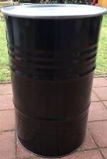 Metallfass 200L mit Deckel Blechfass Fass Ölfass Feuertonne Stehtisch 200 Liter