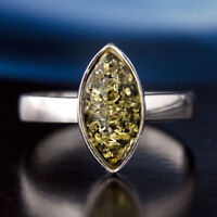 Bernstein Silber 925 Ring Sterlingsilber Damen-Schmuck verschiedene Groessen R48