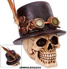 "Steampunk Skull Sculpture - ""Dapper Dead Sprockethead, The Mad Machinist"" -"