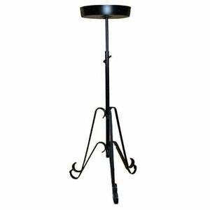 FLOWER PEDESTAL TELESCOPIC WEDDING STAND IN BLACK AND WHITE BRIDAL CHURCH