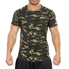 Smilodox Herren Tshirt Soldier 170g Camouflage grün Gr.M
