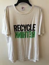 Vintage Single Stitch 'Rethink Recycle' White T-Shirt Size XXL (fits like XL)