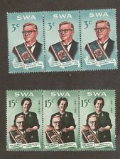 South West Africa 312b - 313b - President.  MLH. OG. Strips Of 3.  #02 SWA312B
