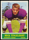 1964 PHILADELPHIA FOOTBALL #110 MICK TINGELHOFF RC NM MINNESOTA VIKINGS ROOKIE