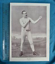 Original 1894 Antique print Portrait Gallery of pugilists Jim SYNTHETIQUE Boxer