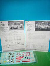 DECALS FOGLI ISTRUZIONI  X KIT HONDA S 800 e TOYOTA S800 FUJIMI 1/24