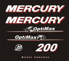 Adesivi motore marino fuoribordo Mercury 200 hp optimax world mondo