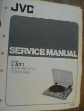 JVC   L-A21  Auto Turntable   Service Manual