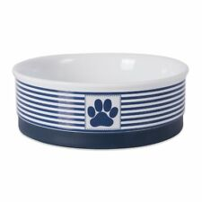 "Dii Bone Dry Stripes Ceramic Medium Pet Bowl For Food Water, 6"" Dia x 2""H, With"