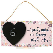 Wall Plaque/Hanging Sign ~ Countdown ~ WEEKS UNTIL WE BECOME MR & MRS