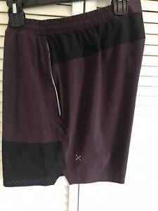 Lululemon Men's Athletic Shorts Unlined Purple Plum SZ XL Excellent Cond