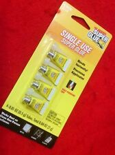 THE ORIGINAL SUPER GLUE SINGLE USE 4 MINI Tubes 0.01 oz Total 0.04 oz (2 g)