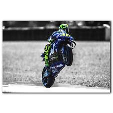 VALENTINO ROSSI MotoGP ~ Framed Picture Canvas Print Wall Art ~ 3 Sizes ~ GP11