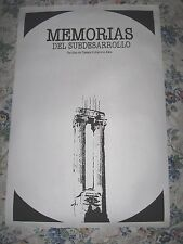 "Original 100 % silkscreen Cuban Movie Poster""MEMORIES OF UNDERDEVELOPMENT"""