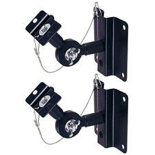2 Pcs Audio Satellite/Bookshelf Speaker Wall Mount Bracket Adjustable Tilting