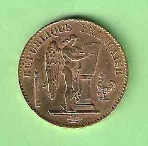 CW168   FRANCE        20   FRANCS   OR      GENIE      1896  A              RARE