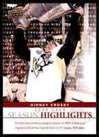 2009-10 Upper Deck Season Highlights Sidney Crosby #SH1