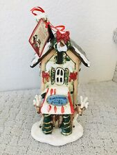 Blue Sky Clayworks Reindeer Village Comet Vixen Cozy Hotel Tealight Holder House