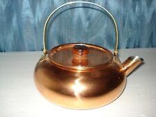 COPPER& BRASS TEA POT ( KETTLE ) of  AUTHENTIC OLD DUTCH DESIGN W/LID & HANDLE
