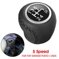 5 Levier de Vitesse Pommeau Noir pour Fiat Grande Punto Linea 55344881 55349796