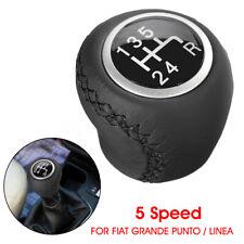 Black gear shift stick pommeau couverture Gaiter gaitor pour FIAT PANDA GRANDE PUNTO 500