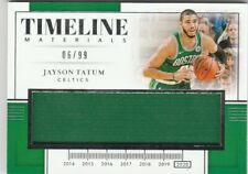 19/20 National Treasures Jayson Tatum Jersey #'ed 6/99 - Celtics