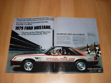 1979 Ford Mustang Pace Car Indy 500 Advertisement Magazine Ad FREE SHIPPING