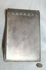 Vintage McDonnell Incorporated silver notepad holder