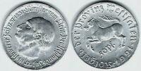 Münze Provinz Westfalen 50 Pfennig 1921 F# 599.1 J. N 9  SEHR SELTEN