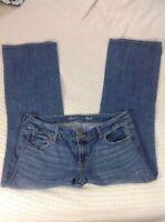American Eagle Jeans Womens Size 14 Med Wash Stretch Favorite Boyfriend Denim