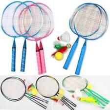 Kinder Badminton Federballschläger Federball Racket Badmintonschläger Set Gift