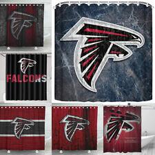 Atlanta Falcons Design Fabric Waterproof Shower Curtain Bathroom Accessory Set