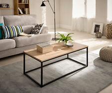 Hogar24-Mesa de centro salón comedor madera y metal estilo industrial vintage