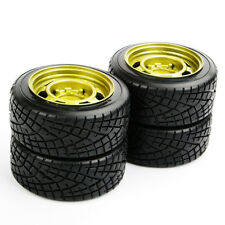4PCS Hard Plastic Tires Wheel Rims Set 12mm Hex For 1/10 HSP HPI Drift RC Car
