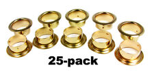 "Cigar Box Guitar Parts: 25pc. 7/8"" Brass Sound Hole Inserts/Grommets    32-05-02"