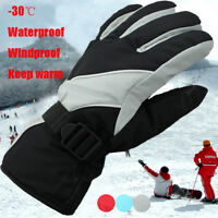 Ski Sports Men's Winter Warm Thermal Waterproof Windproof Gloves Snow Snowboard