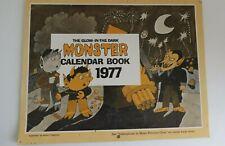 Rare Monster Calendar Book 1977 Glow-In-The-Dark Collectible Original Authentic