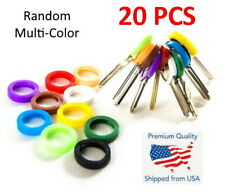 20x Key Caps Rubber Identifer Top Cover Keys Topper Ring Mixed Colors Marker