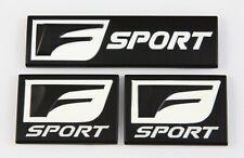 (3) Lexus F Sport Fender & Trunk Logo Badge Marker 3D Emblem Decals Aluminum