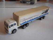 """Majorette Mercedes Truck + Trailer """"Transports Alloin"""" in White"""