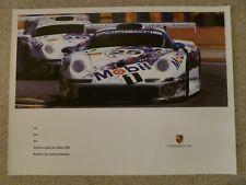 1996 Porsche 911 GT1 Coupe Le Mans Showroom Advertising Sales Poster RARE!! L@@K