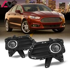 13-16 For Ford Fusion Clear Lens Pair Bumper Fog Light Lamp+Wiring+Switch Kit