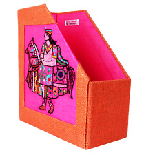 Indha Craft Hand Embroidered Motif Patch, Hand Made Magazine Holder