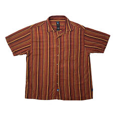 Kuhl Men's Short Sleeve Button Up Shirt Size XL Stripes Western Style Collared