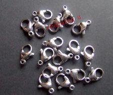 5pz moschettoni  in acciaio inox  10x6mm colore argento scuro