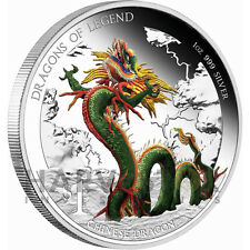 2012 AUSTRALIAN DRAGONS OF LEGEND - CHINESE DRAGON - SECOND COIN - SILVER 1 OZ.